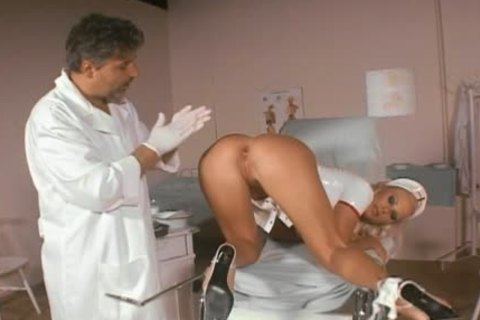 Smoking slutty nurse a-hole-gangbanged
