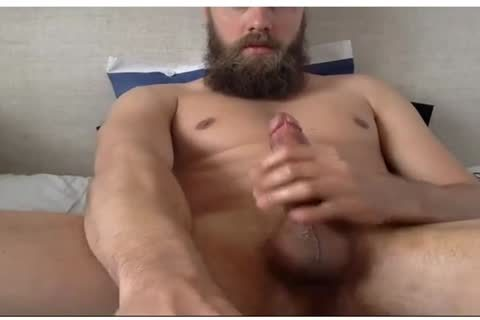 dirty twink With A Beard Beats His cock